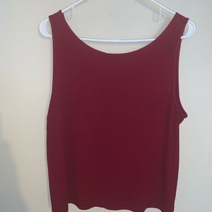 Eileen Fisher Maroon Nice Tank Top